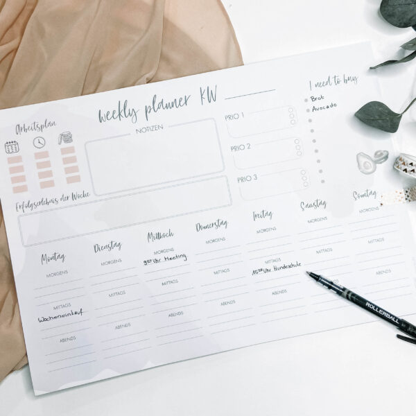 Concre Weekly Planner